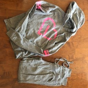 Tracksuit gray hoodie sweater and sweatpants